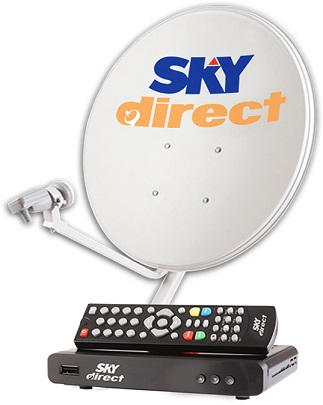 Each SKYdirect installation kit includes a SKYdirect dish and Digibox