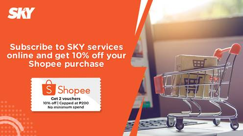 Subscribe and shop with new SKY, Shopee deal