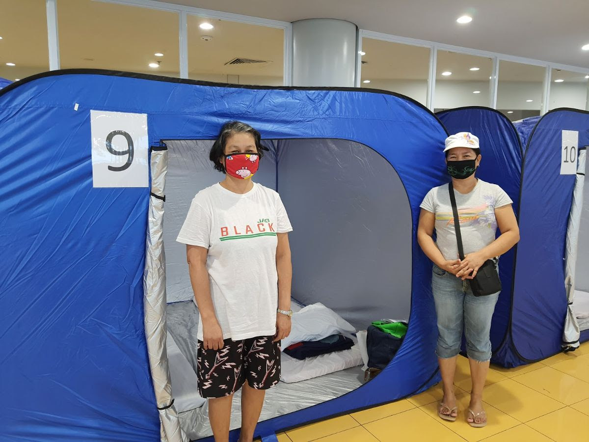 Lopez Group provides tents, 'convalets' for LSIs in NAIA