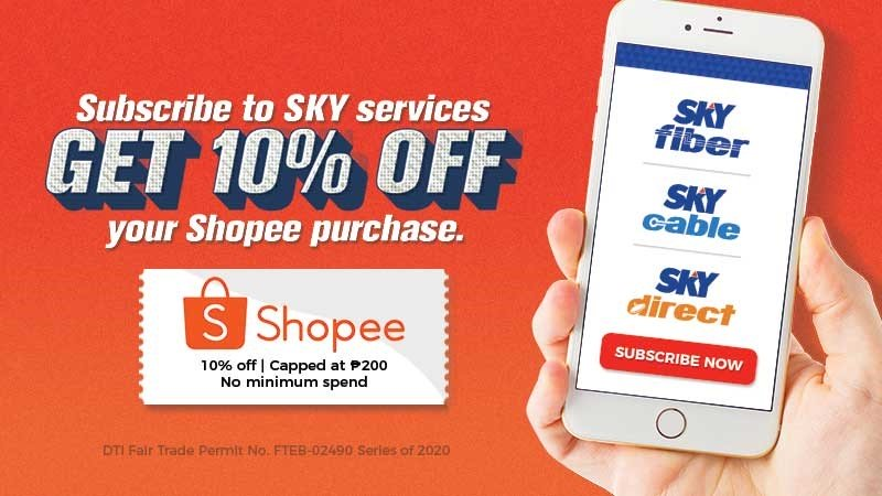 Subscribe to SKY online, get Shopee vouchers!