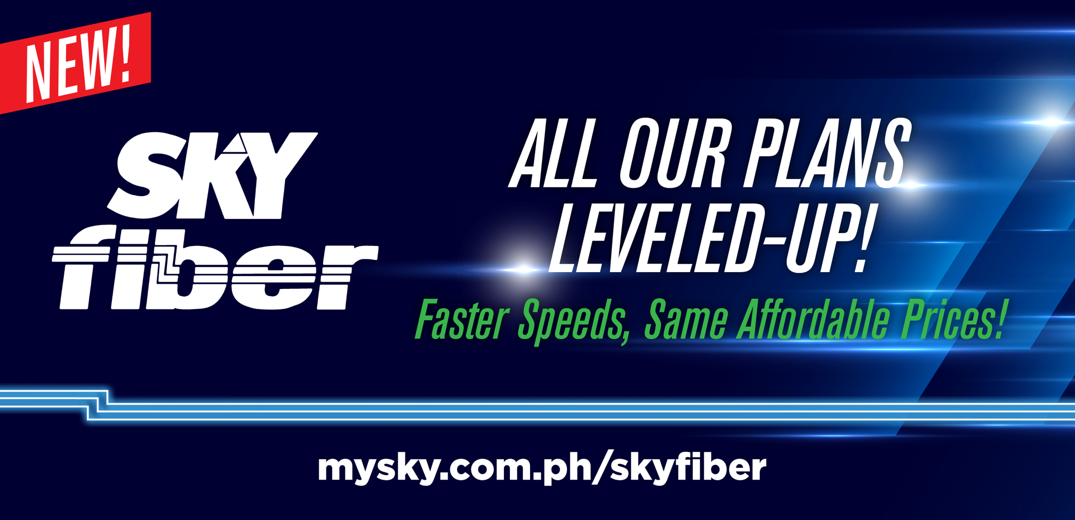 SKY Fiber offers leveled up speeds  at the same affordable rates
