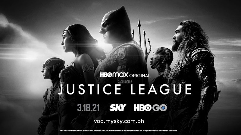 'Justice League' to premiere in PH on HBO GO via SKY
