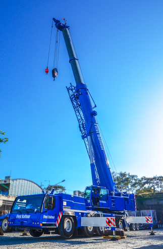 The company's top-of-the-line equipment includes a 160T Liebherr crane in 'First Balfour blue' acquired in 2015