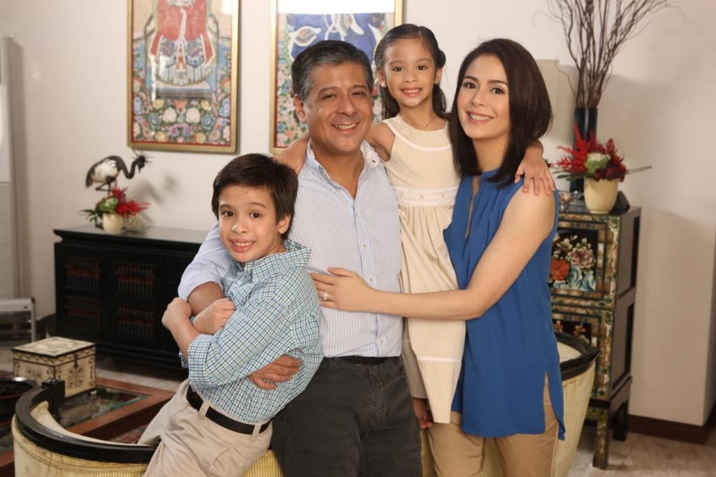 Dawn Zulueta and her wonderful family Congressman Anton Lagdameo with kids Jacobo and Ayisha