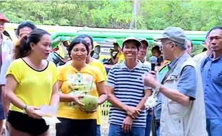 After the blessing of the facilities in Sibunag, Guimaras;