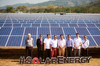 The First Balfour team led by project director John Porter (leftmost) joins KSEC executives at the inauguration of Kirahon Solar Farm