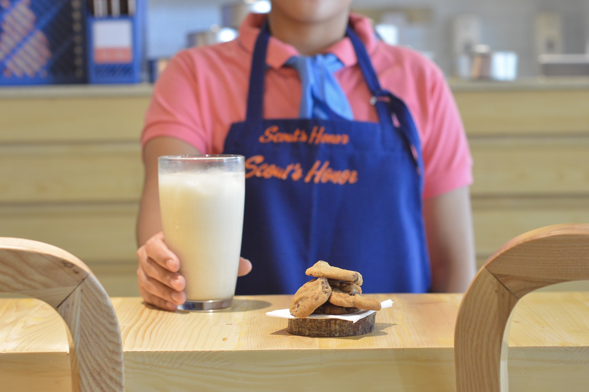 Dunk a Scout's Honor cookie in a glass of Horlick's milk
