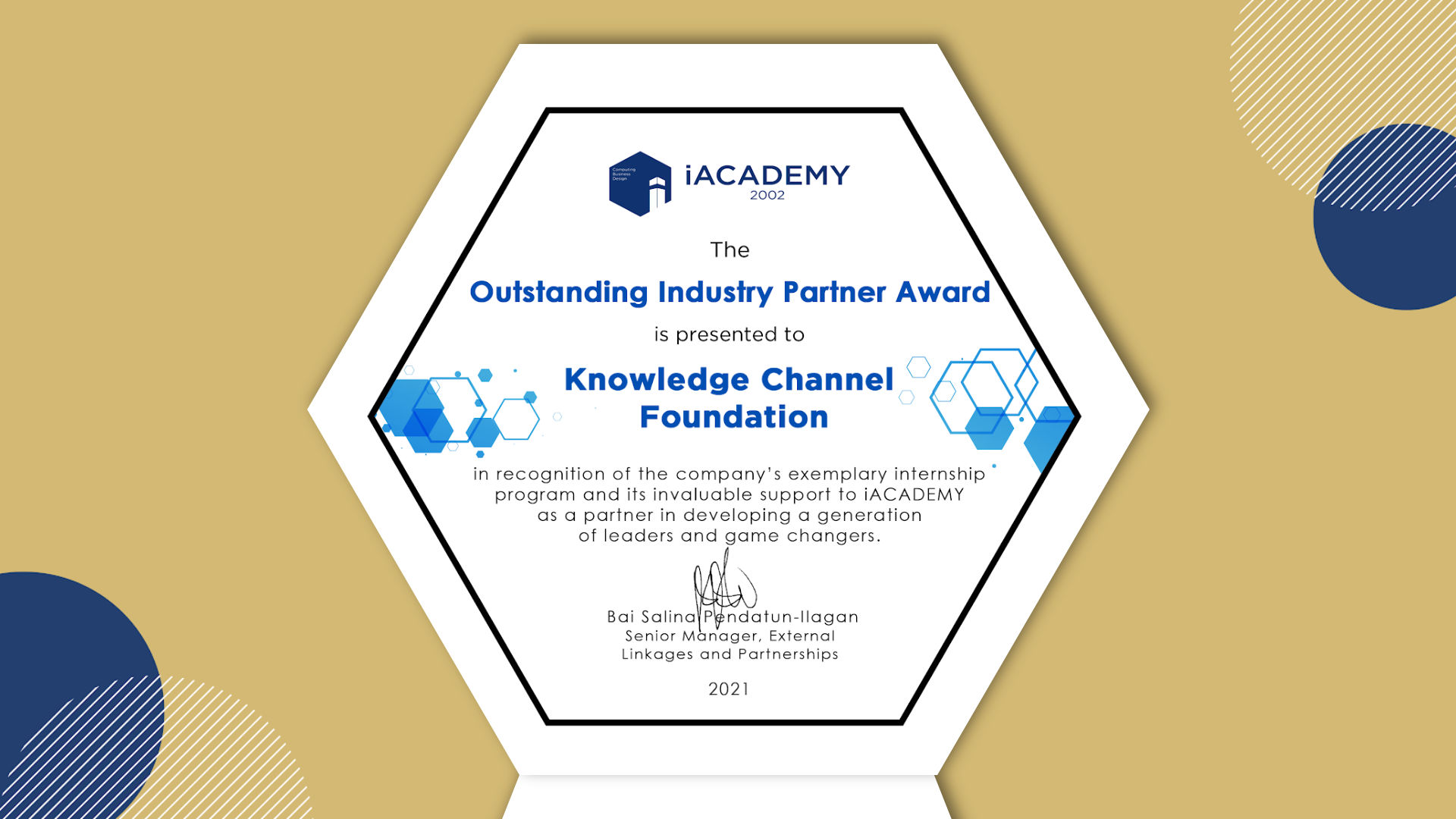 Knowledge Channel cited for work  in producing educational content