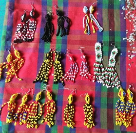 Bead earrings, Lamlifew Tribal Women's Association