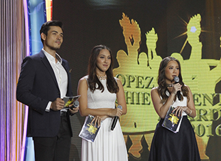 Hosts Xian Lim and the 4th generation of Lopezes, Erica Abello and Marianna Vargas