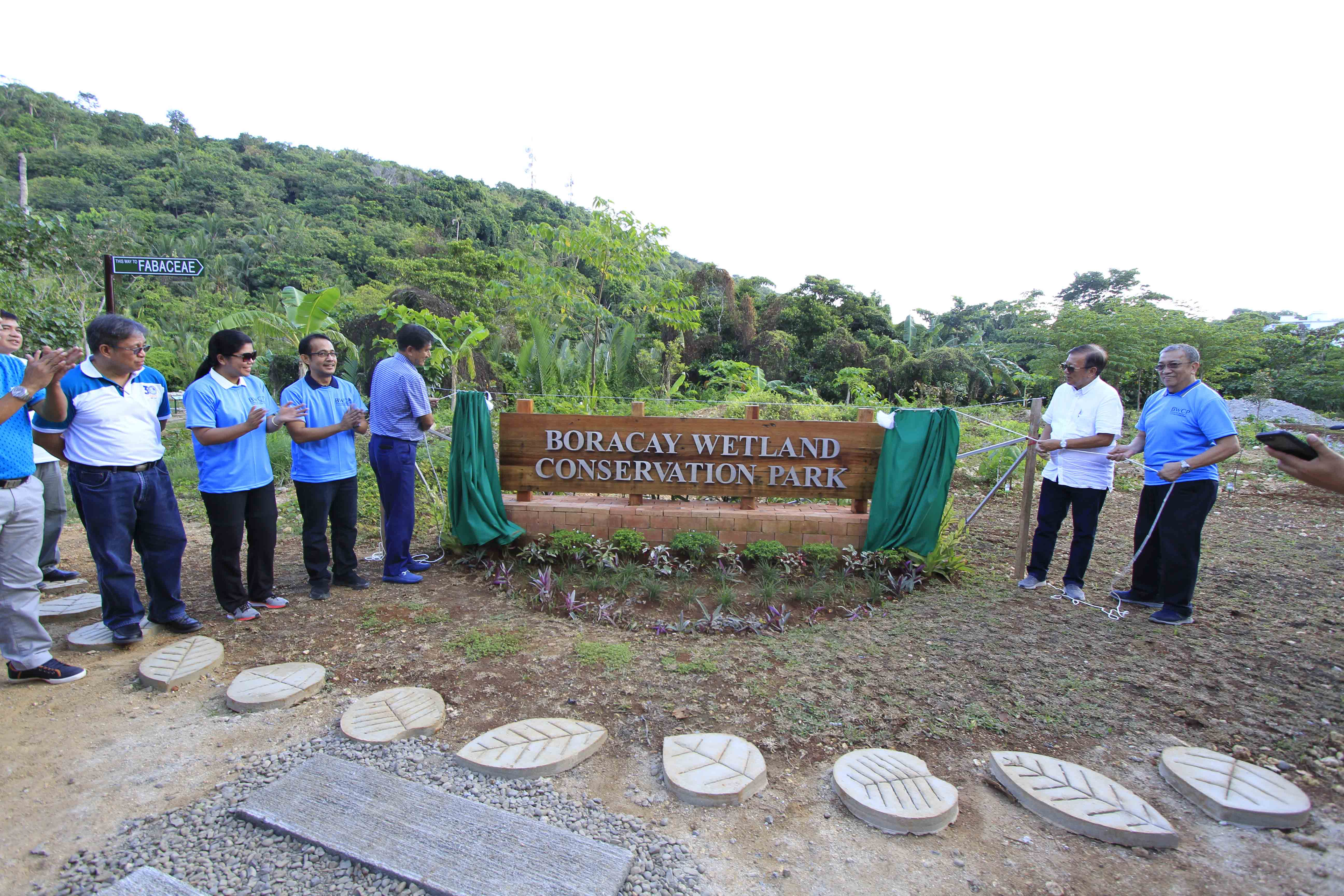 Officials from EDC and DENR lead the inauguration of the 7.79-hectare Boracay Wetland Conservation Park