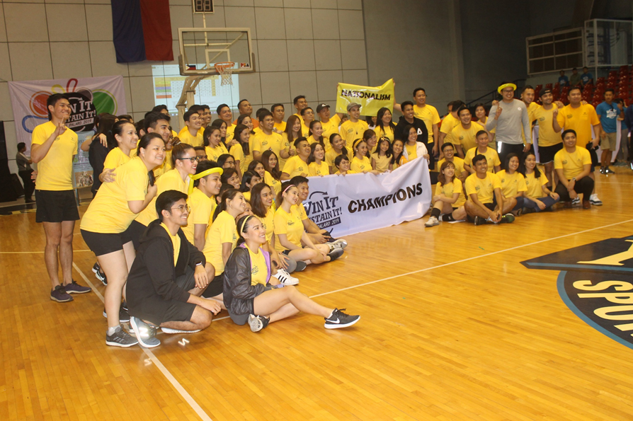 The Yellow Team is awarded as the 2019 Lopez Group Palaro champ