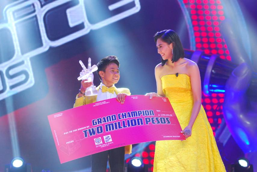 Team Sarah's Vanjoss wins 'The Voice Kids'