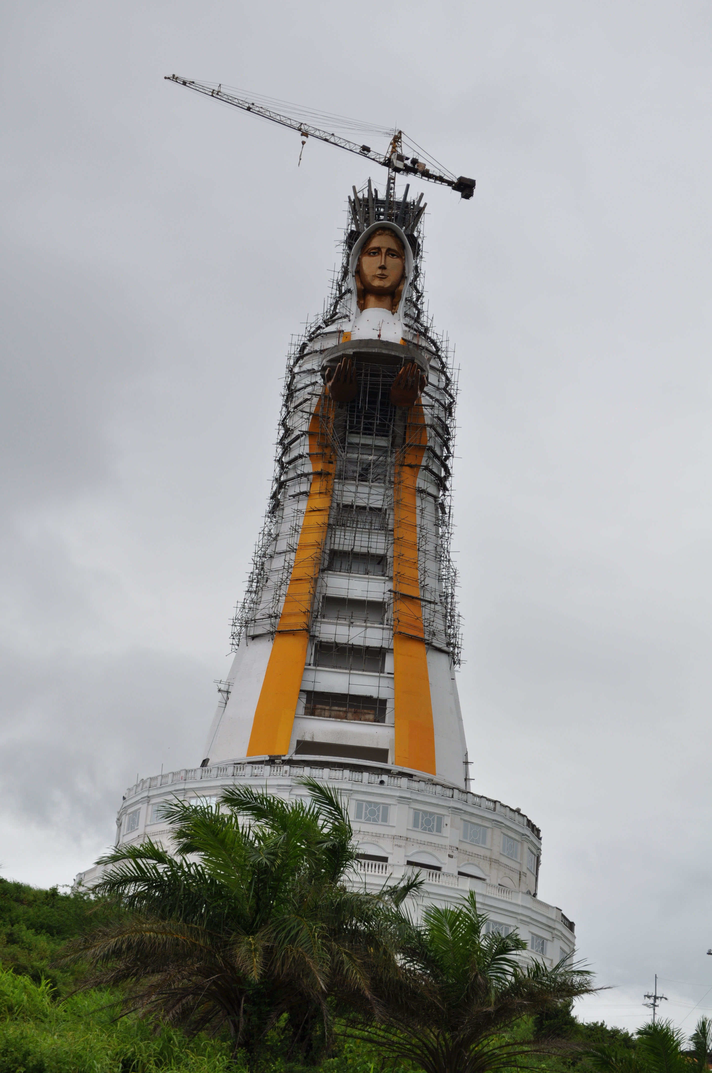 The famous 88-meter statue of the Virgin Mary