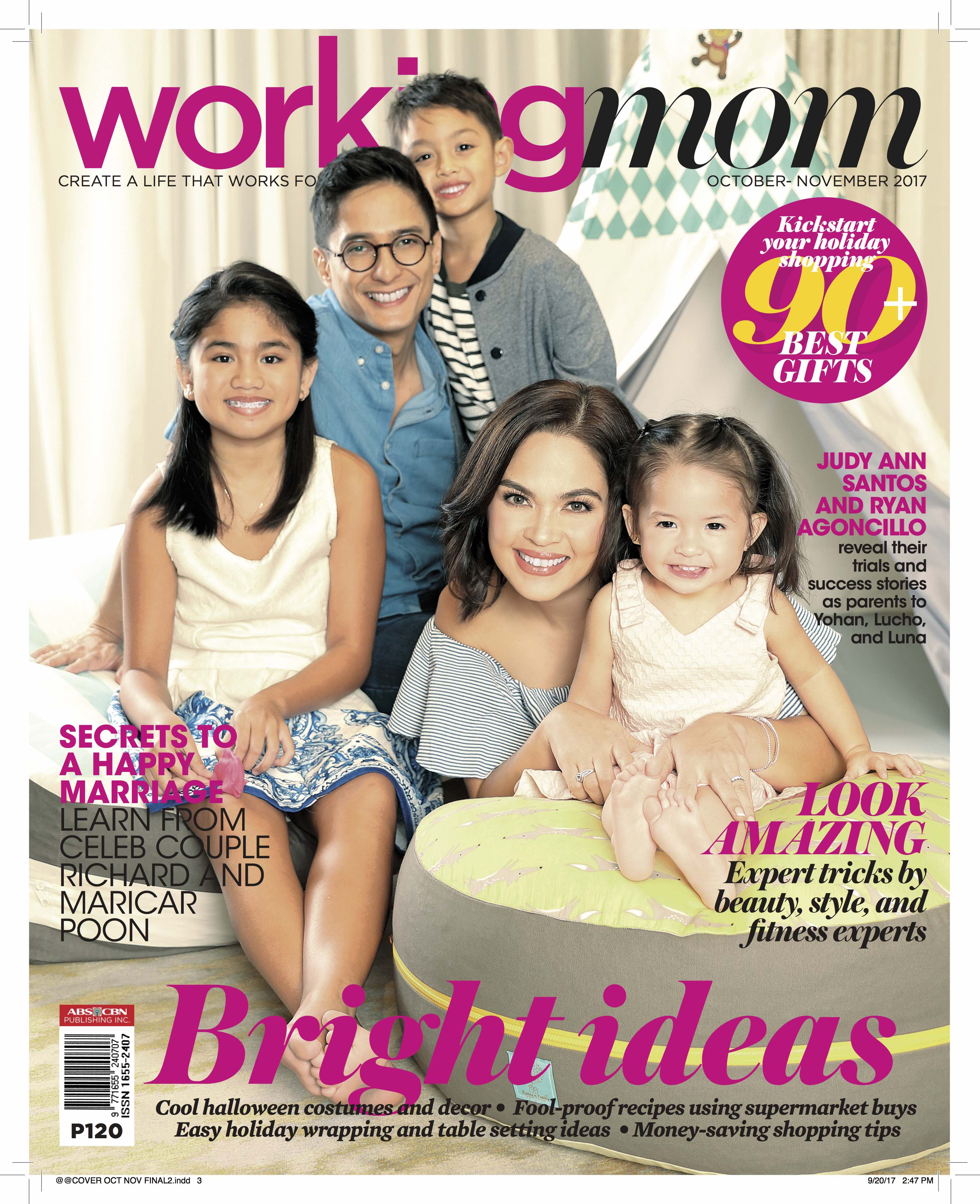 Judy Ann Santos and Ryan Agoncillo grace the cover with their three kids