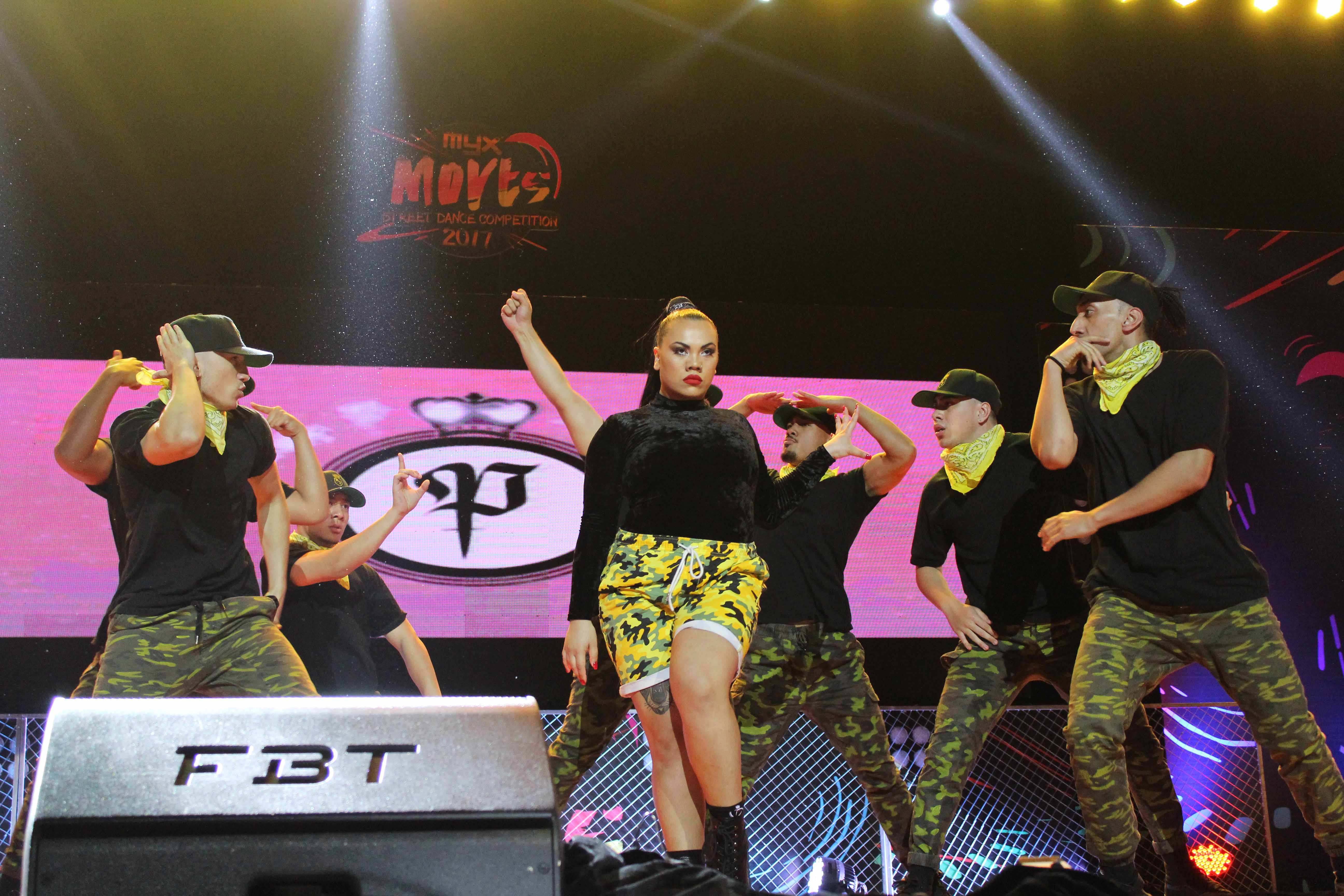 High school dancers show off their moves at the MYX Moves Street Dance Competition