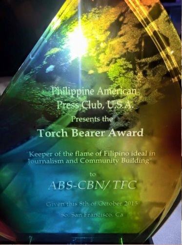 ABS-CBN The Filipino Channels TFC 2015 Torch Bearer Award