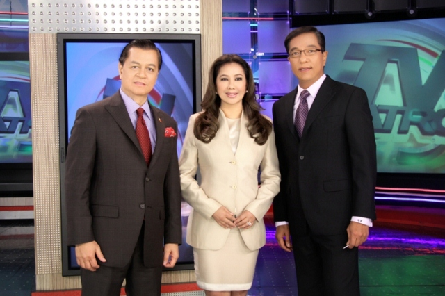 TV Patrol anchors Kabayan Noli De Castro Korina Sanchez and Ted Failon