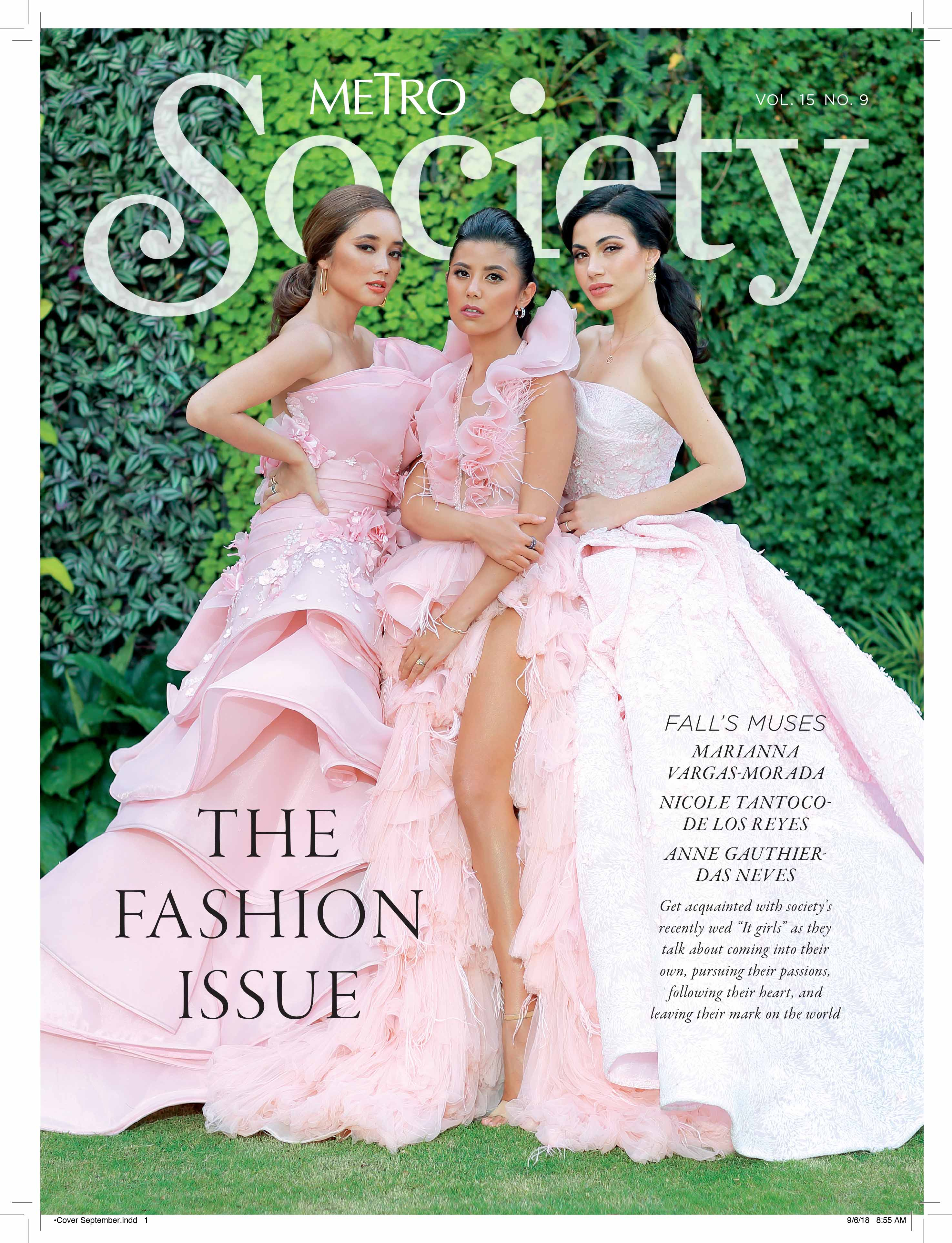 Recently wed 'it' girls grace cover of Metro Society's Fashion Issue