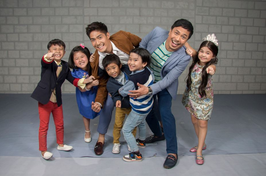 The Kids Choice hosts Robi-Domingo and Erik Nicolas with The Just Kids League Chunsa Jung Onyok Pineda Jayden Villegas Carlo Mendoza and Xia Vigor
