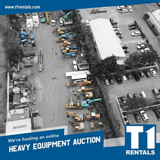 T1 Rentals to roll out 2nd batch of equipment for auction before year's end