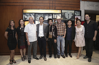 Lopez Museum collaborators (from left) exhibit co-curator Ethel Villafranca, Mercedes L. Vargas, Gourmet Farms' Ernest Escaler, Samsung's Cris Concepcion, featured contemporary artists Joey Cobcobo, Nune Alvarado, Alvin Yapan, OJ Torogan-Salubayba and co-curator Ricky Francisco.
