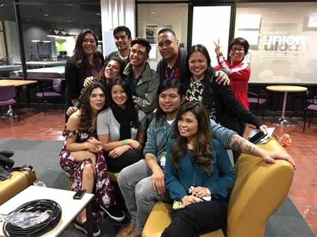 TFCU Core Team with friends from media and Balitang America. Getting ready for a 10-city tour of the U.S and Canada to bring #TFCUTalks to more young people across North America.