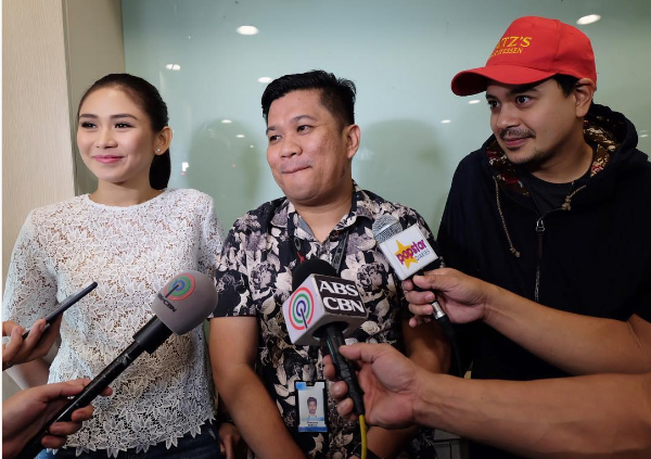 "The ""AshLloyd"" tandem of Sarah Geronimo and John Lloyd Cruz, with director Ted Boborol"