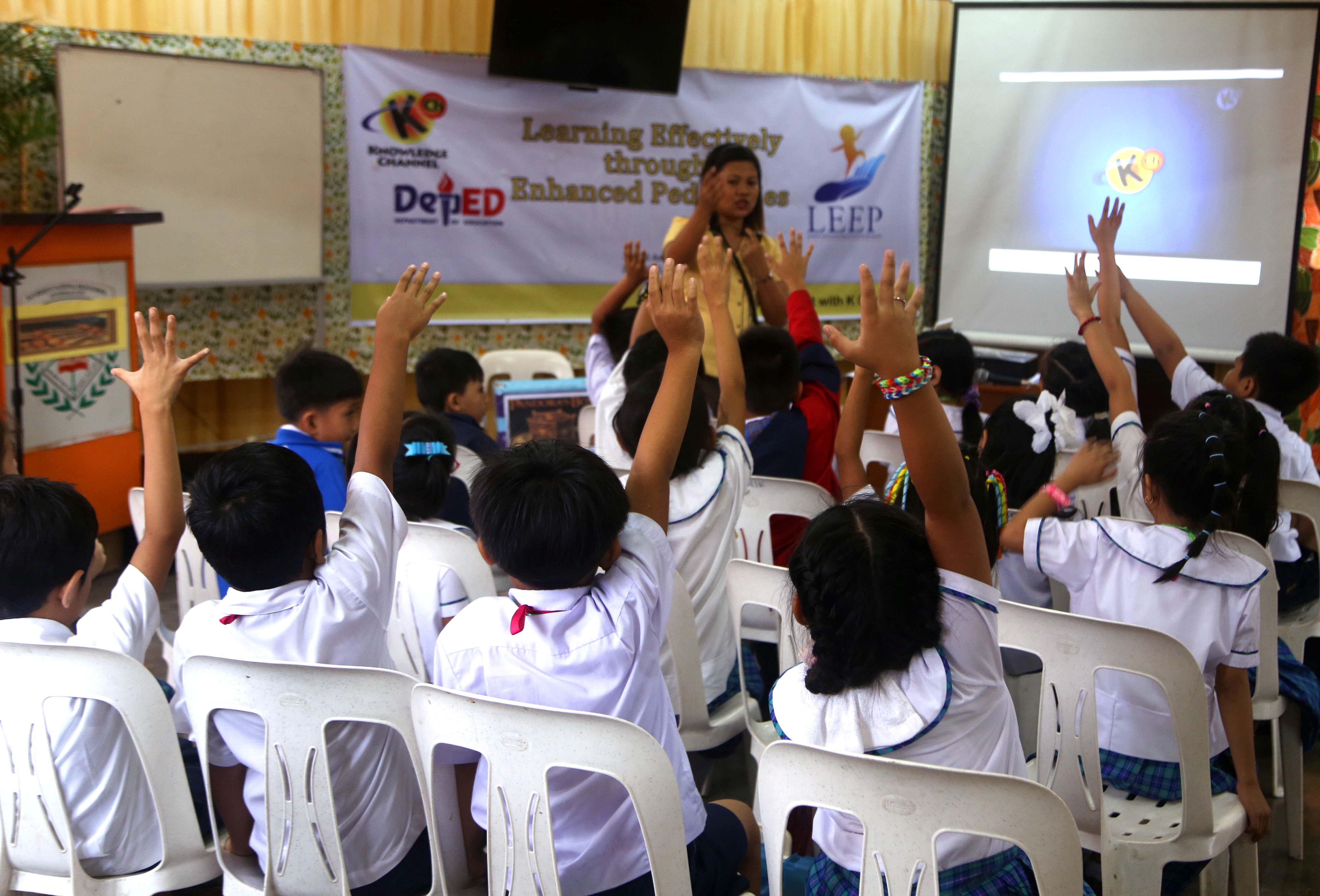 A teacher from Claudio Sandoval Elementary School in Coron, Palawan attests that her class became more active and engaged when she applied what she learned from LEEP training