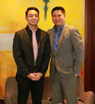 "Migs Bustos of ""Gametime"" & Ron Cruz of ""The Bureau"" strengthen ANC's news coveragefrom sports to international news ad events."